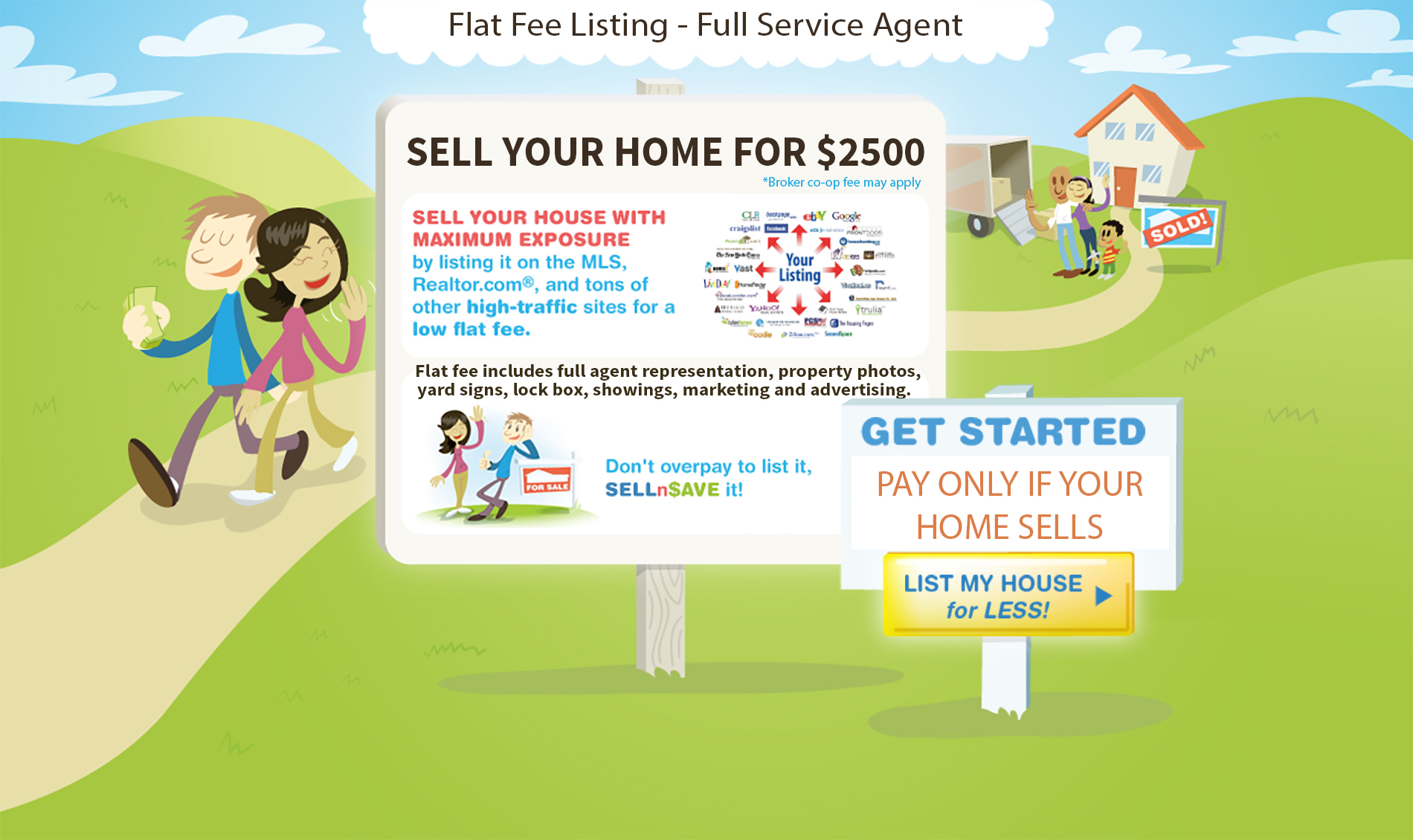 sellnsave – sell your home for $2500 – flat fee real estate